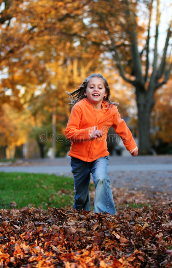 Download Jumping in the Leaves stock photo. Image of leaves, active - 1855260