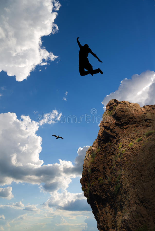 Jumping man. royalty free stock photography