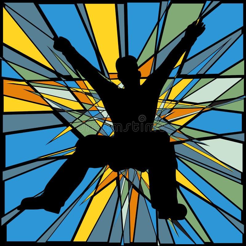 Download Jumping man stock vector. Image of jump, splintered, person - 25399855