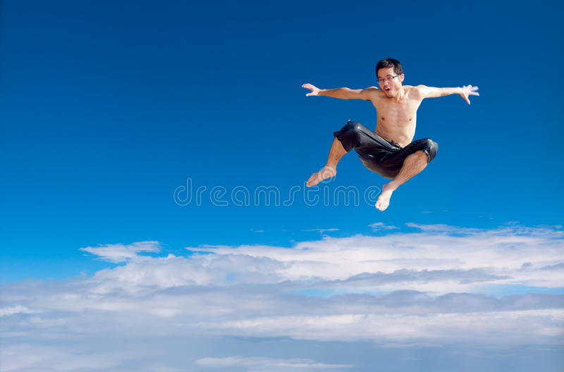 Download Jumping man stock photo. Image of synthesis, young, people - 26146102