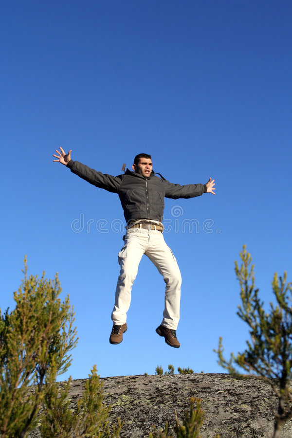 Download Jumping Man stock image. Image of energetic, countryside - 3577319
