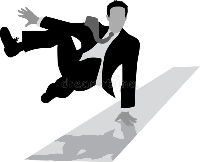 Download Jumping Outline Of A Businessman Stock Vector - Illustration of leaping, business: 17147228