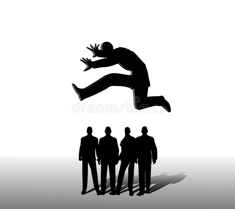 Download Jumping Over The Competition Stock Illustration - Image: 4318194