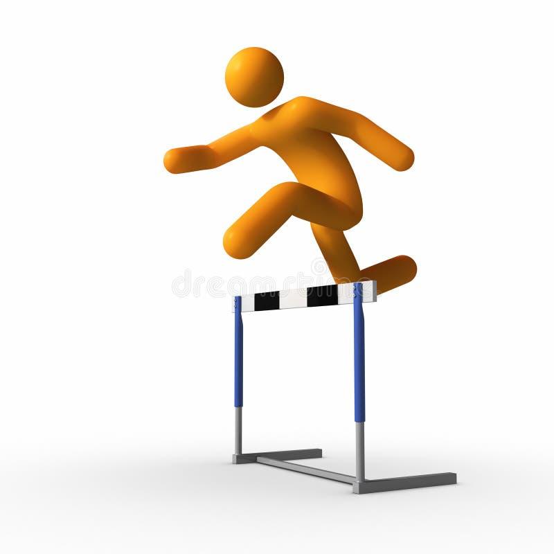 Jumping Over Hurdle Royalty Free Stock Image