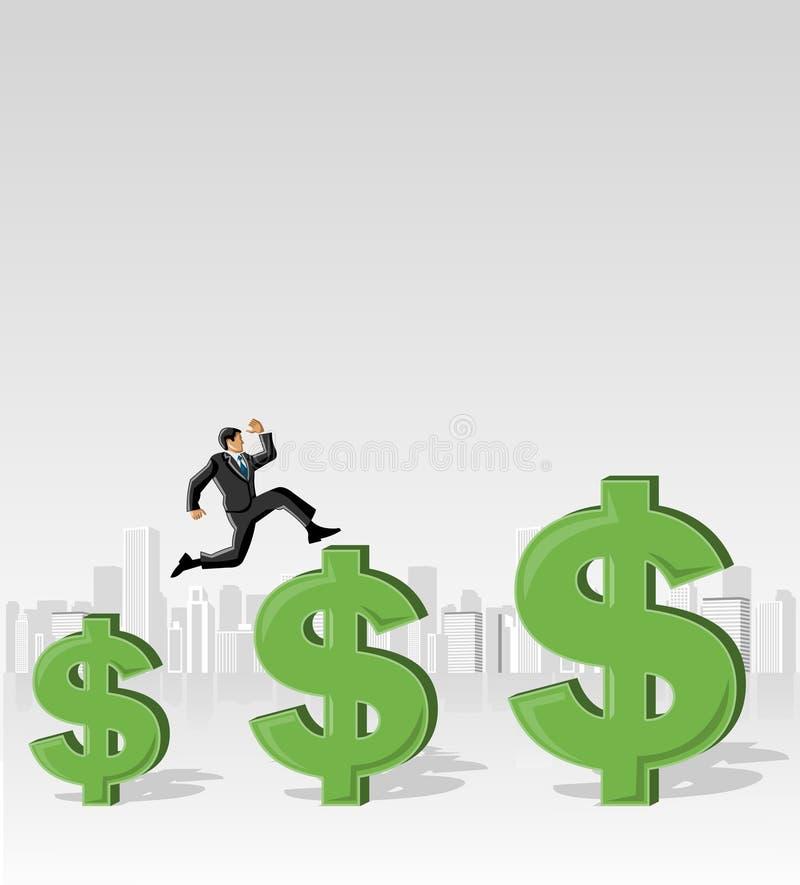 Download Jumping over money symbols stock vector. Illustration of banner - 29047402