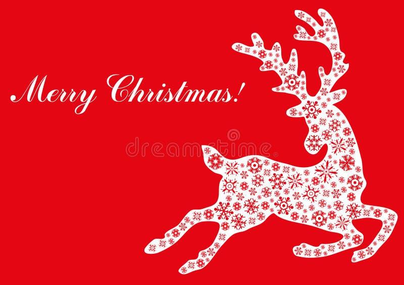Jumping reindeer vector illustration