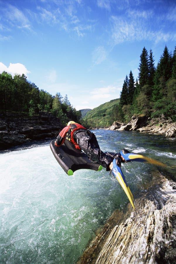 jumping river woman στοκ φωτογραφίες με δικαίωμα ελεύθερης χρήσης