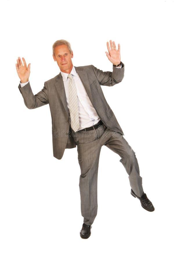 Download Jumping Senior Business Man Royalty Free Stock Photo - Image: 26917215