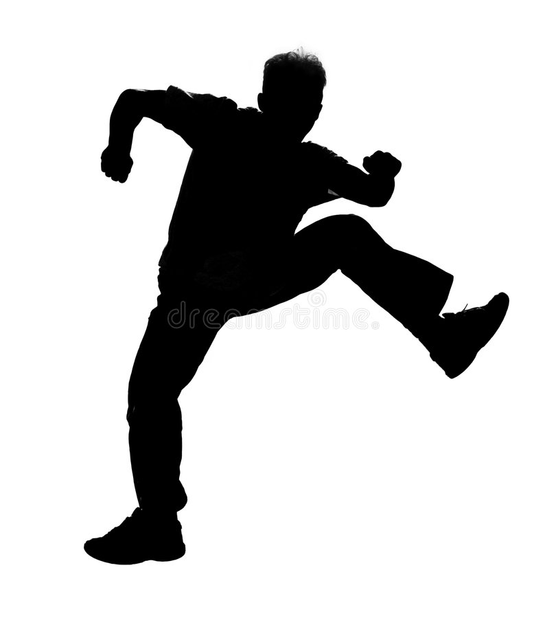 Jumping silhouette royalty free illustration