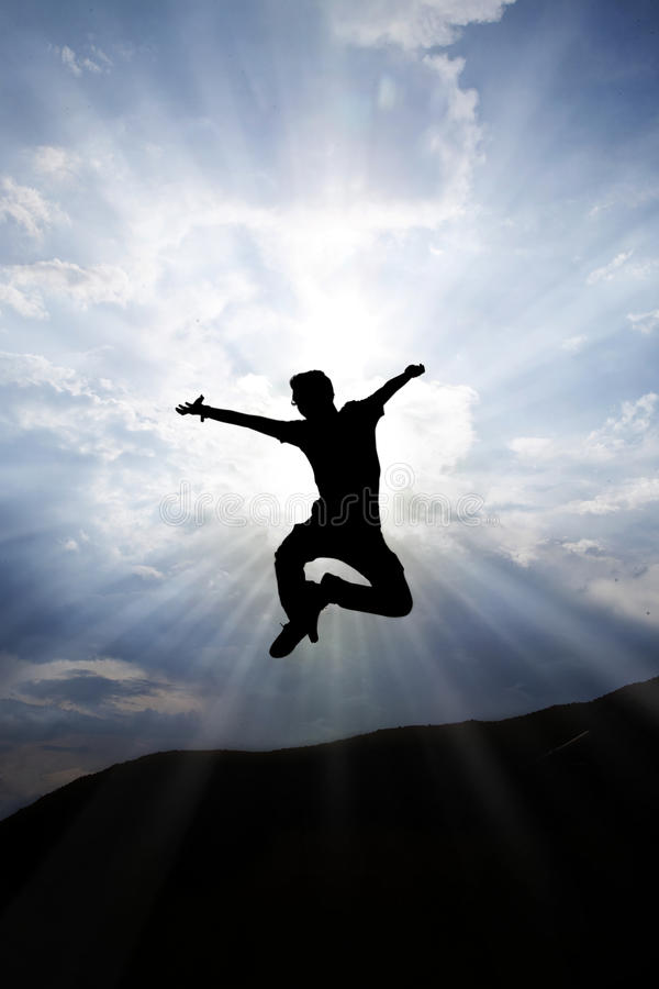 Download Jumping Silhouette stock image. Image of person, active - 22837733