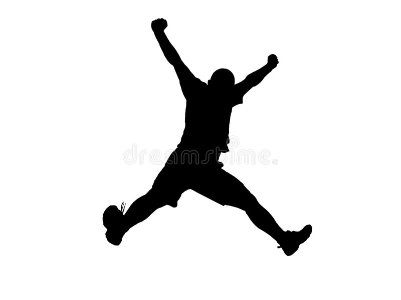 Jumping silhouette stock illustration