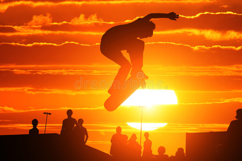 Jumping Skater Stock Images