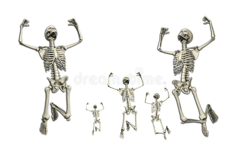 Download Jumping Skeletons stock illustration. Image of cloudy - 10817152