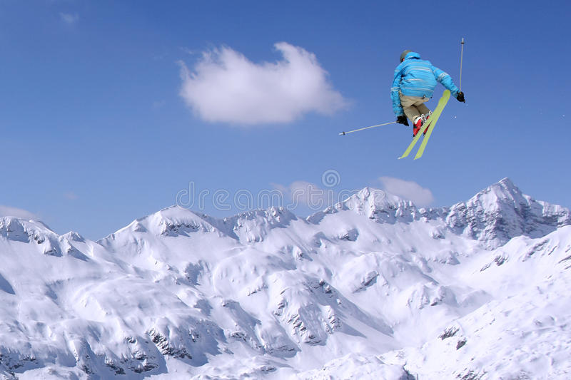 Download Jumping skier stock photo. Image of freestyle, slide - 35234052
