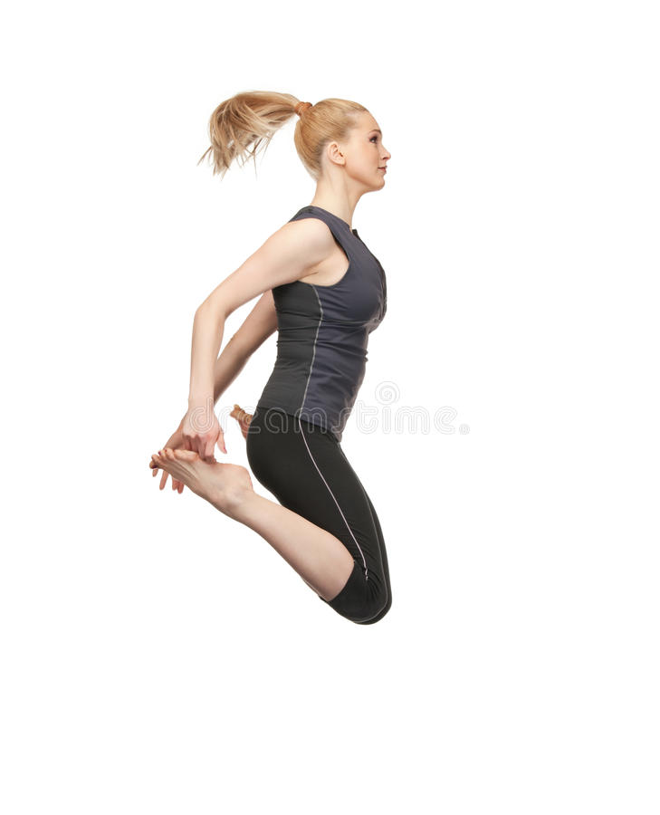 Download Jumping sporty girl stock photo. Image of healthy, carefree - 19734080