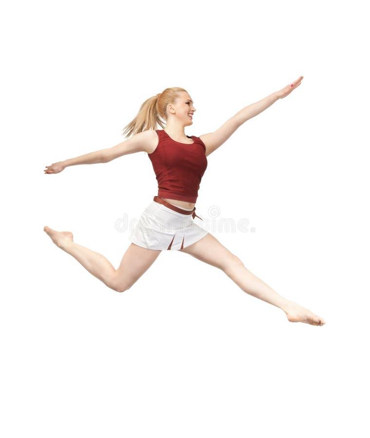 Download Jumping sporty girl stock photo. Image of carefree, joyful - 19747234