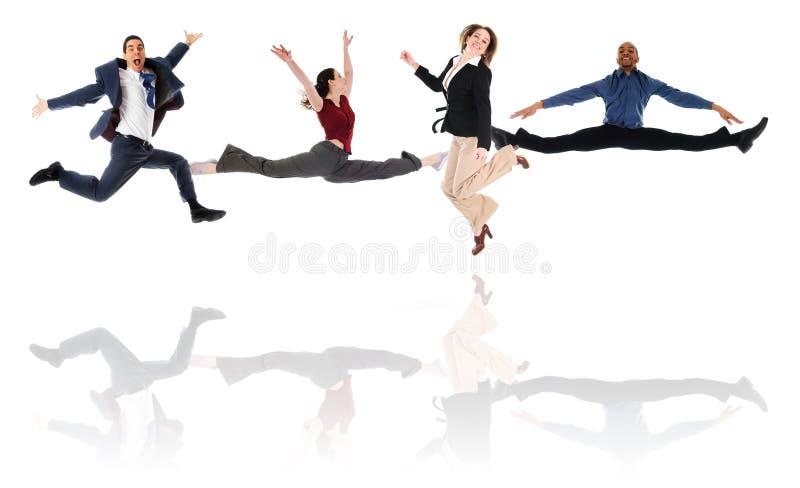 Jumping Team stock photos