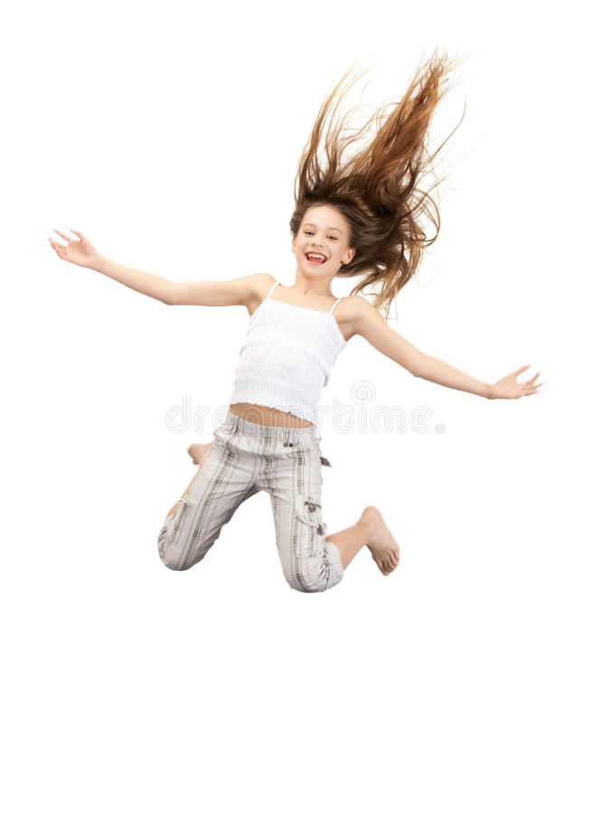Download Jumping teenage girl stock image. Image of girl, flight - 20123709