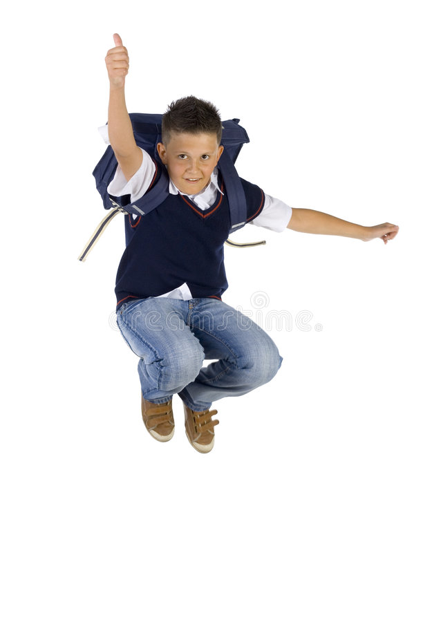 Download Jumping With Thumb Up Stock Images - Image: 2952484