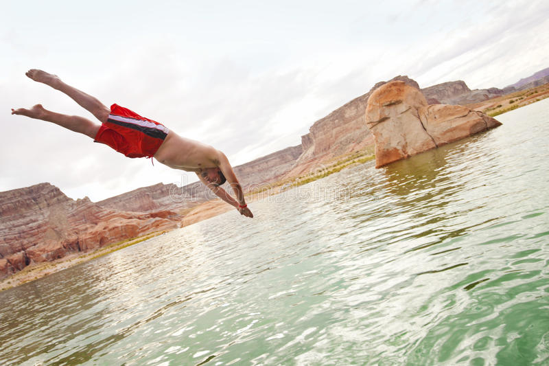 Download Jumping In The Water And Playing In The Lake Stock Photo - Image: 20013856