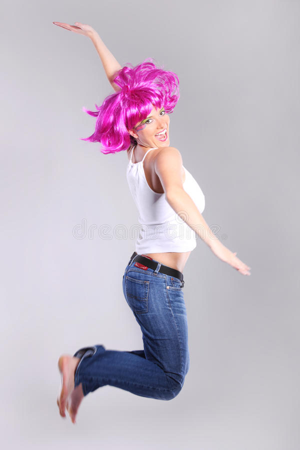 Download Jumping woman stock image. Image of girl, caucasian, happy - 20275169