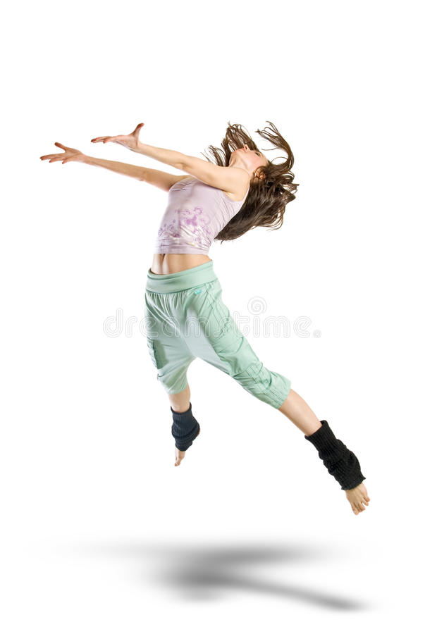 Jumping young dancer stock photography