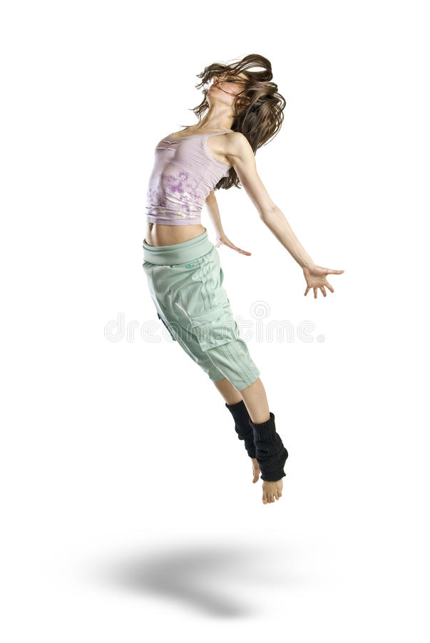 Free Jumping Young Dancer Isolated Royalty Free Stock Photography - 14006147
