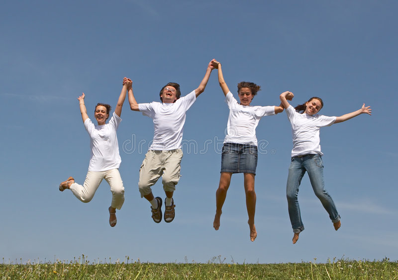 Jumps 2 stock photography