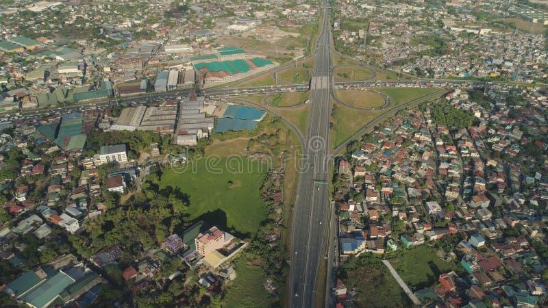 Junção de estrada em Manila, Filipinas imagens de stock royalty free