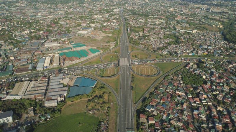 Junção de estrada em Manila, Filipinas foto de stock