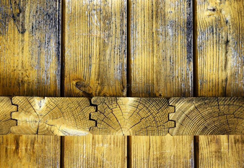 Junção de madeira do paneling foto de stock royalty free