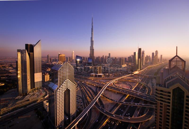 Junções de estrada em Dubai foto de stock royalty free