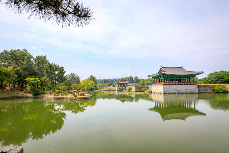 Jun 22, 2017 Donggung Palace and Wolji Pond in Gyeongju, South K. Orea - famous tourist destination stock images