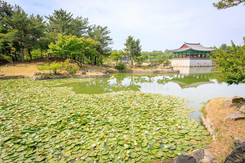 Jun 22, 2017 Donggung Palace and Wolji Pond in Gyeongju, South K. Orea - famous tourist destination stock image
