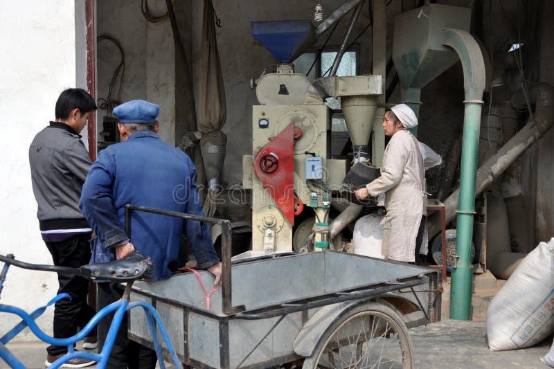 Download Jun Le Town, China: Making Rice Flour Editorial Stock Image - Image: 18551754