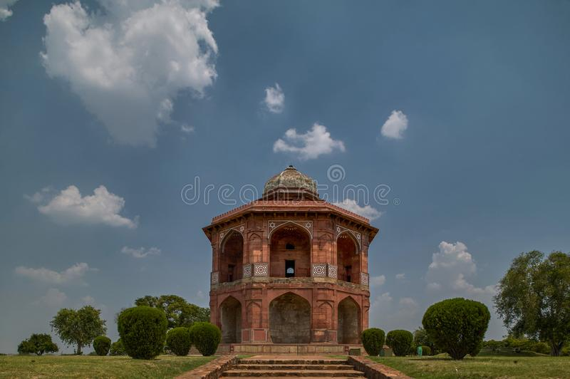 Sher Mandal` was built by Mughal Emperor Babur for his son Humayun. This two story building was used as observatory and his pers. 12-Jun-2004 Sher Mandal` was royalty free stock photography