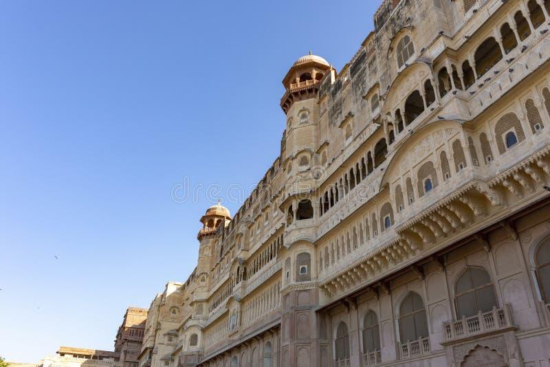 Junagarh Fort bei Bikaner, Rajasthan Indien Junagarh Fort war ori stockbild