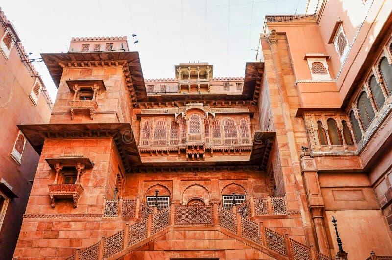 Junagarh Fort w Bikaner, Rajasthan w północnych Indiach obraz royalty free