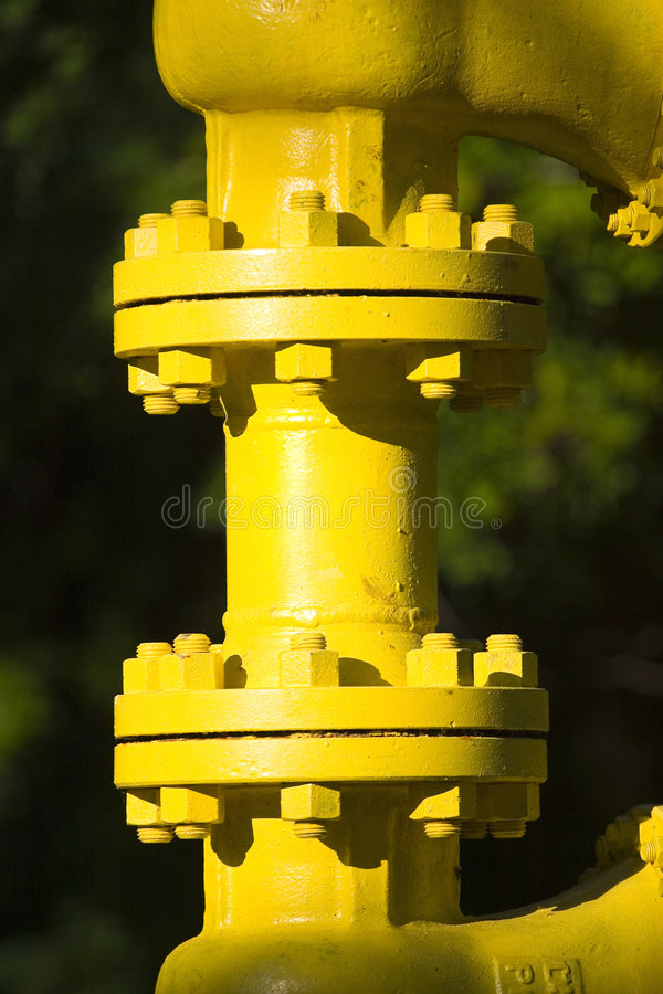 Junction in industrial pipe royalty free stock image