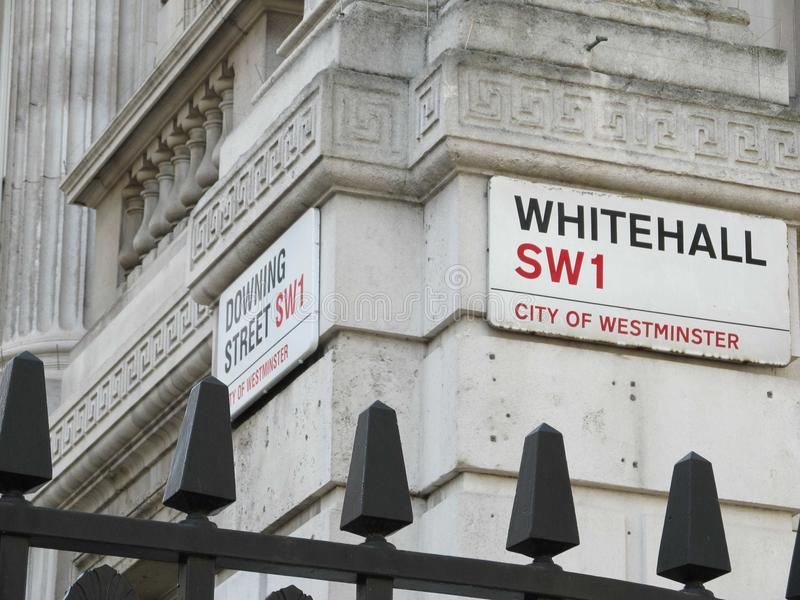 Junction of Whitehall royalty free stock image