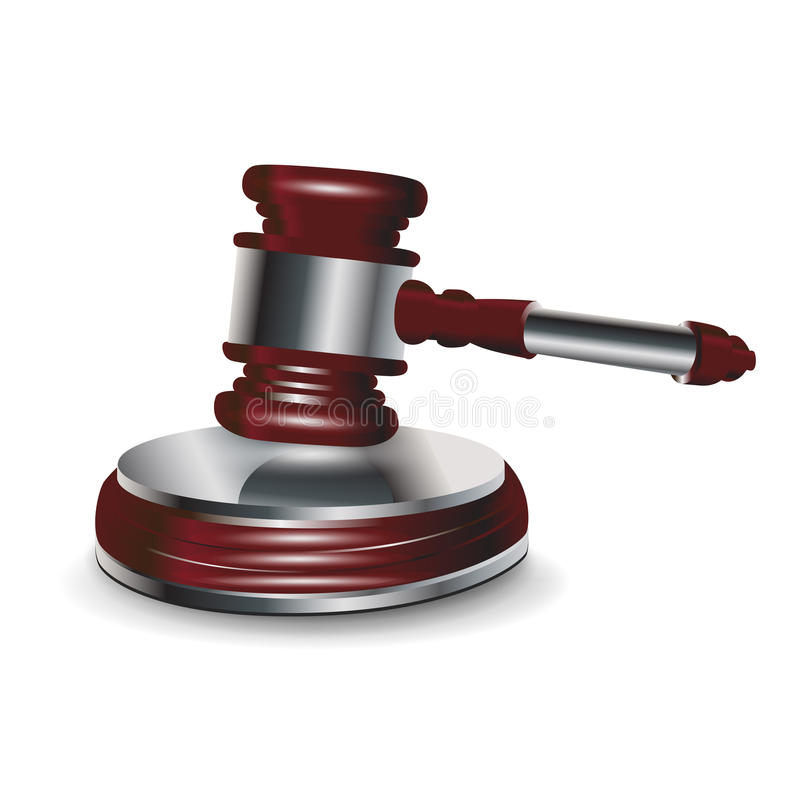 Download Jundge gavel stock vector. Image of judge, counsel, justice - 25799674