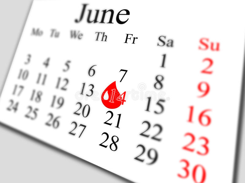 June 2013. Day of the donor stock image
