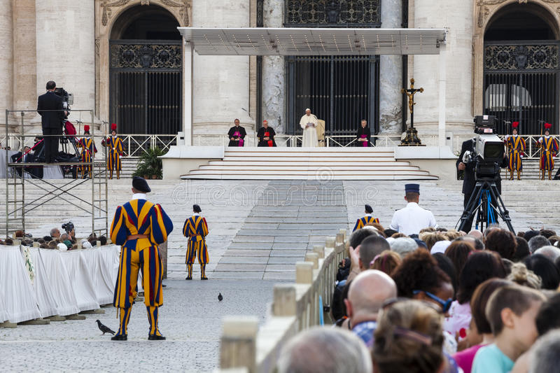 June 14, 2015. Pope Francis. Ecclesial Congress of the Diocese of Rome royalty free stock photos