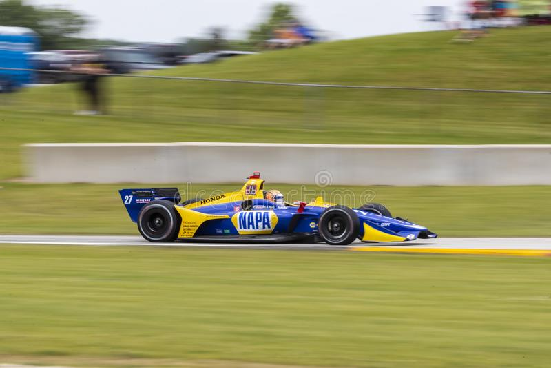 IndyCar: June 23 REV Group Grand Prix stock photography