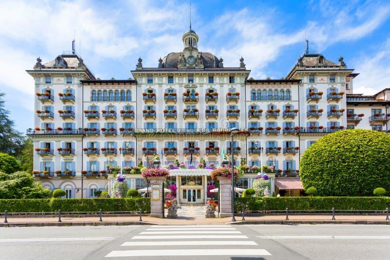 Grand Hotel Des Iles Borromees, Stresa,  Lake Maggiore, Italy. View of Grand Hotel Des Iles Borromees, Stresa,  Lake Maggiore, Piedmont, Italy stock images