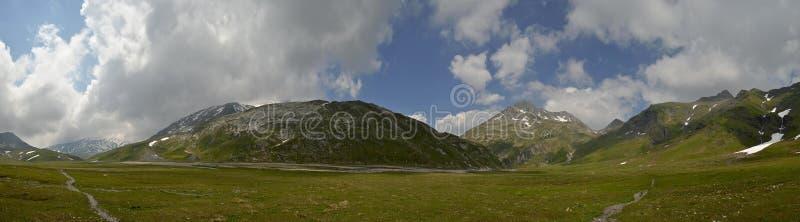 Swiss Alps High Plateau Panorama royalty free stock image