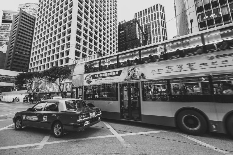 Hong Kong Central Street Scene after work. June 23, 2017 - Hong Kong Central Street View after work stock photos