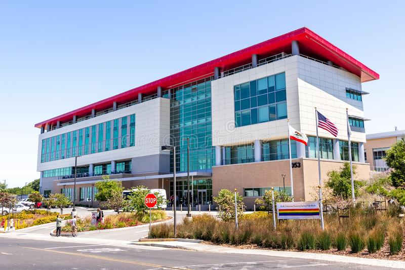 June 21, 2019 Menlo Park / CA / USA - The Science and User Support Building at SLAC National Accelerator Laboratory originally. Named Stanford Linear stock images