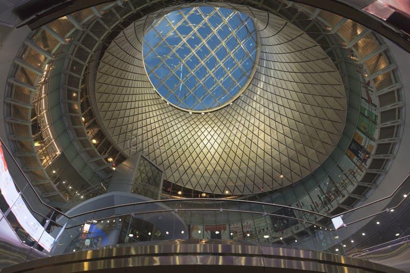 JUNE 5, 2018 - New York, NY, USA - Sky Reflector-Net at the Fulton Center royalty free stock images