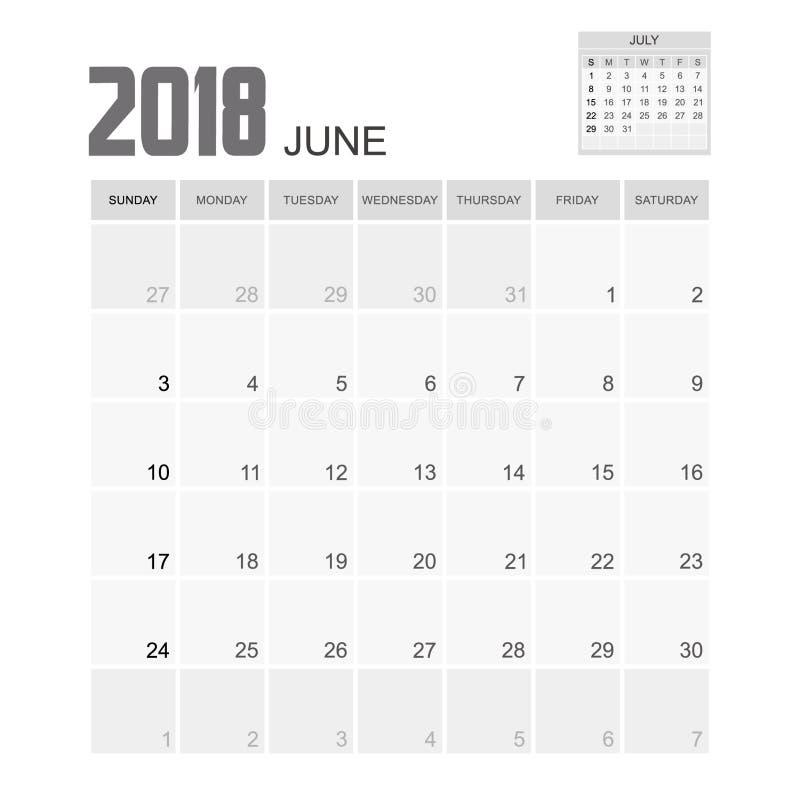 2018 june planner design stock illustration image of for Time design planner